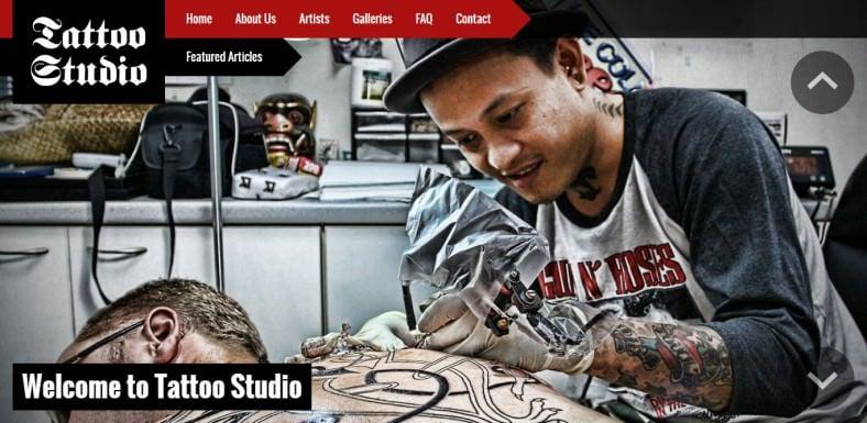 Responsive Joomla Tattoo Studio Template