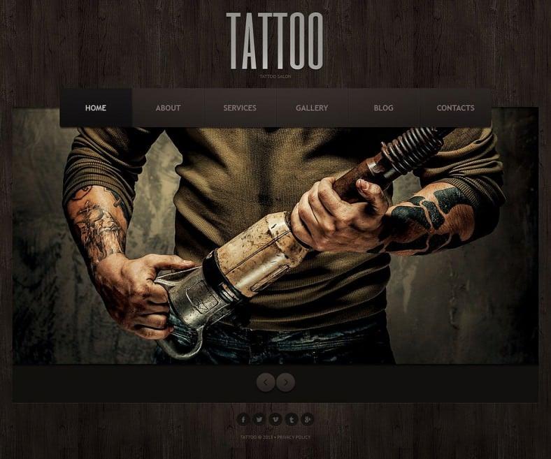Responsive Joomla Template for Tattoo Salon