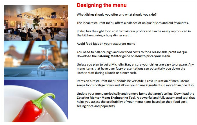 restaurant marketing plan template free download