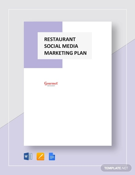 restaurant social media marketing plan template