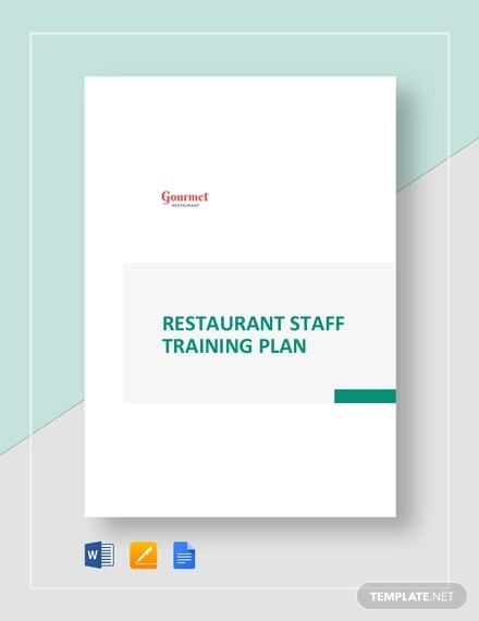 restaurant staff training plan template