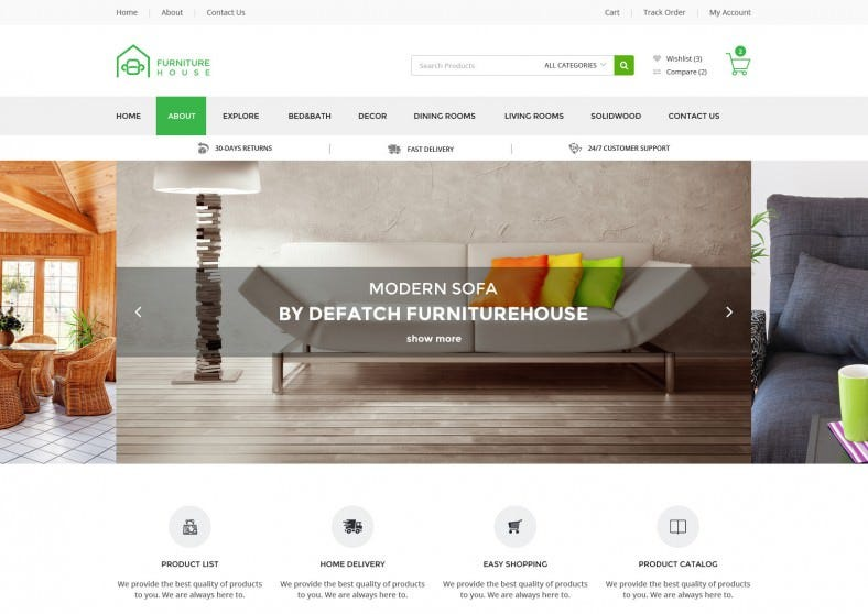 Retail Furniture eCommerce Shop HTML Template