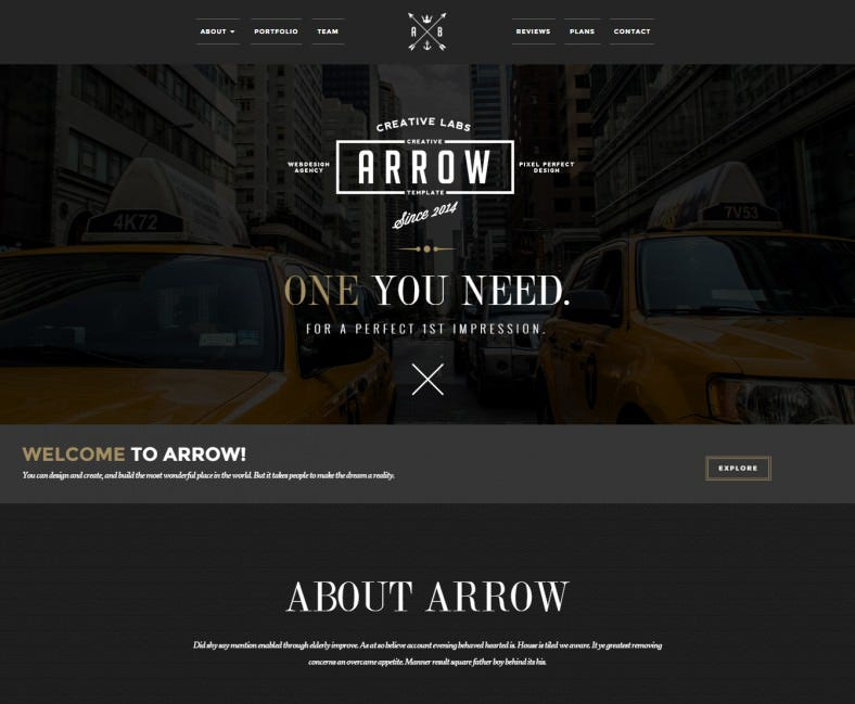 retro arrow joomla template1 788x649
