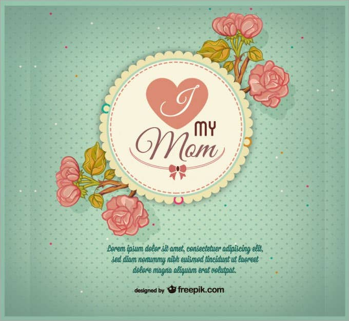 retro mother s day free design