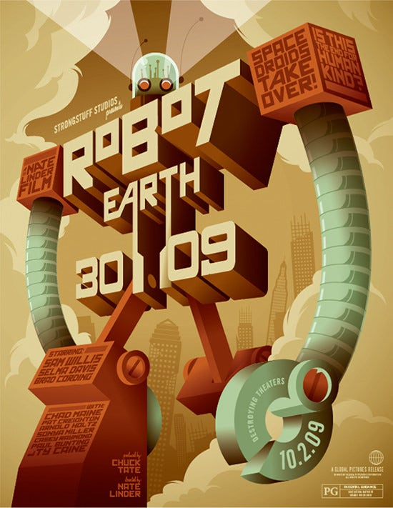 Robot-Earth-Poster-Making-Tutorials