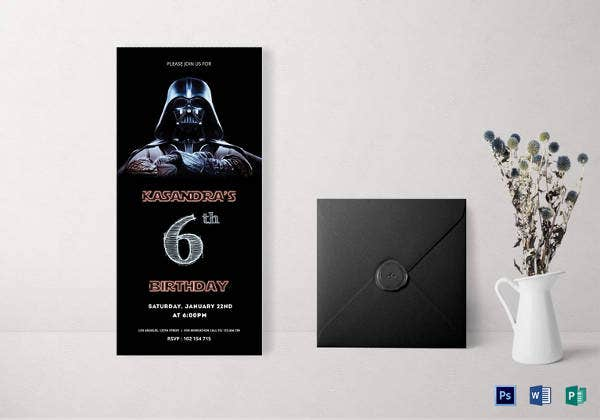 robot-star-wars-6th-birthday-invitation-card-template