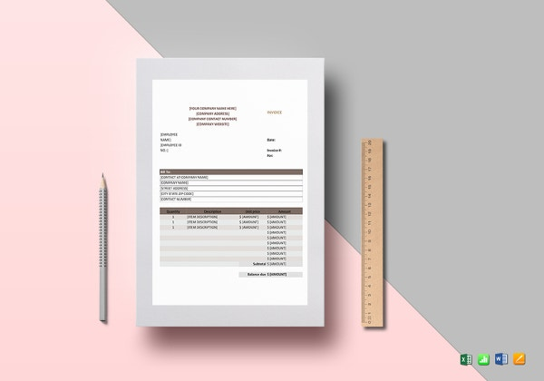 sales invoice template4