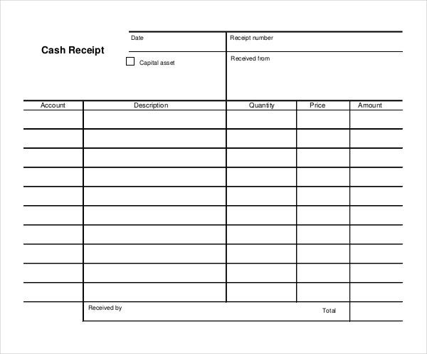 Sample Cash Receipt  Cash Recepit