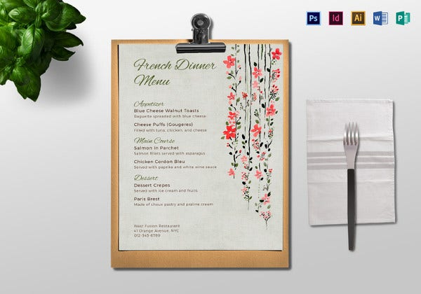 sample-dinner-menu-template