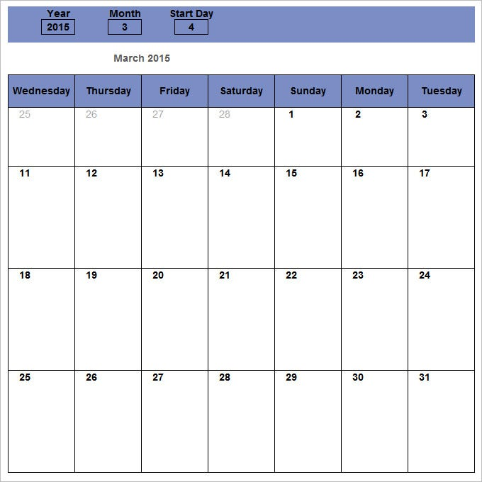 Monthly Schedule Template   Free Excel Pdf Documents Download