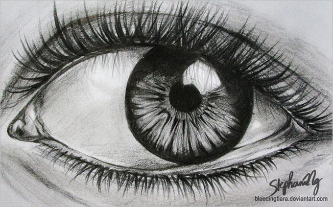sample eye pencil drawing 1