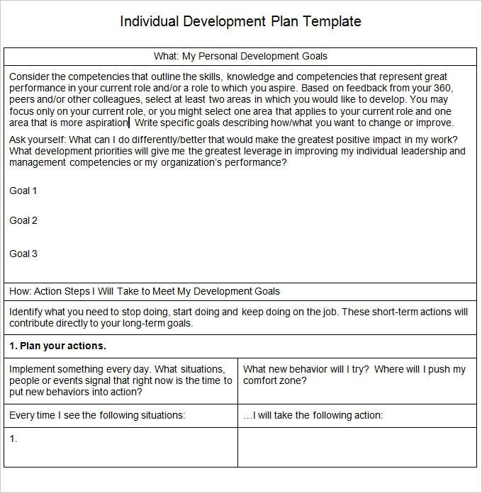 Career Development Plan Career Development Plan Template ttr0mq41