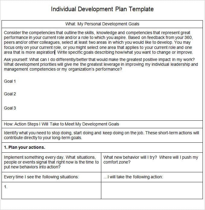 personal development plan template word .
