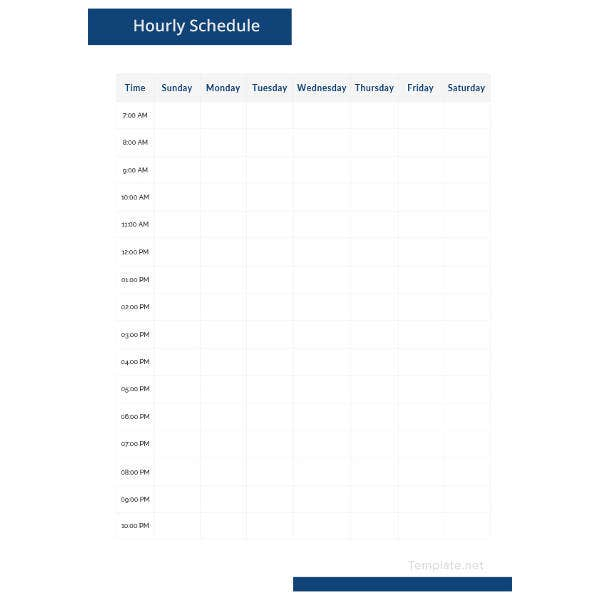 sample-hourly-schedule-template
