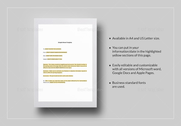 Blank Memo Template   Free Word Pdf Documents Download  Free