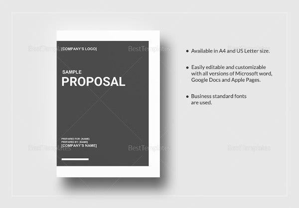 28 Free Proposal Templates Microsoft Word Format Download – Sample Proposal Template Word