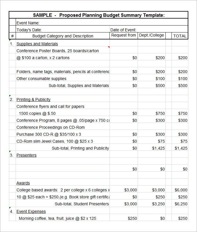 sample-proposed-budget-planning-summary-template