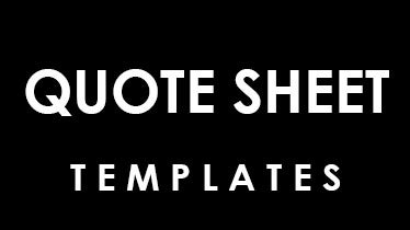 sample quote sheet templates free download