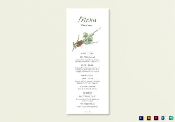 sample-wedding-menu-card-template