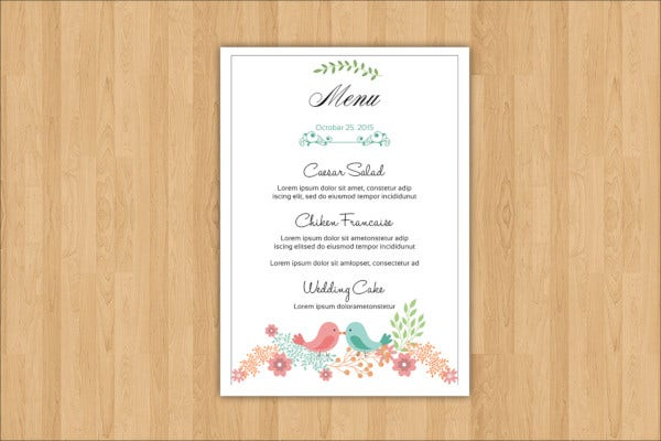 sample-wedding-menu-templates