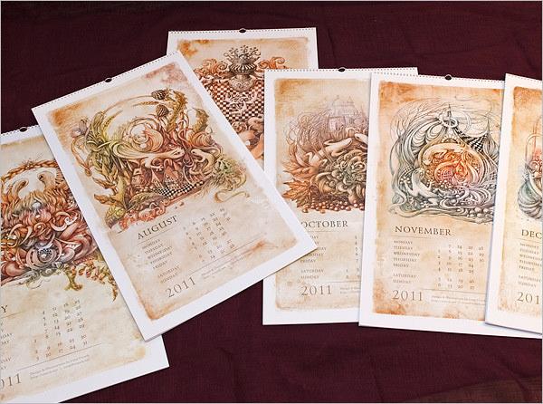 saurians renaissance calendar template