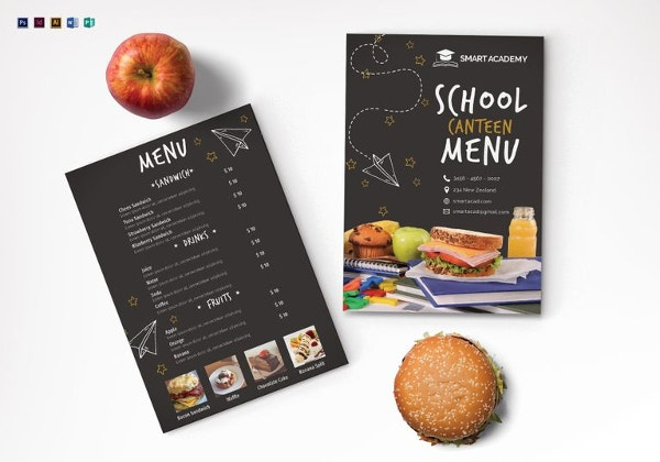 school canteen menu template1