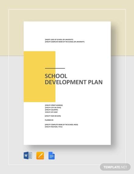 school development plan template