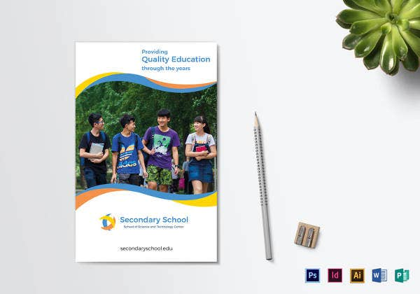 Education Brochure Template Free PSD EPS Indesign Format - Bi fold brochure template indesign