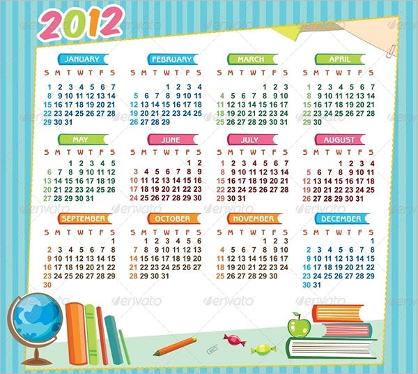 school educational calendar template