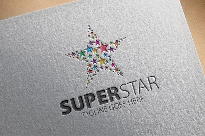 seamless super star star logo