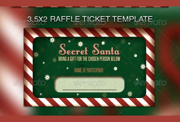 secret santas raffle flyer template