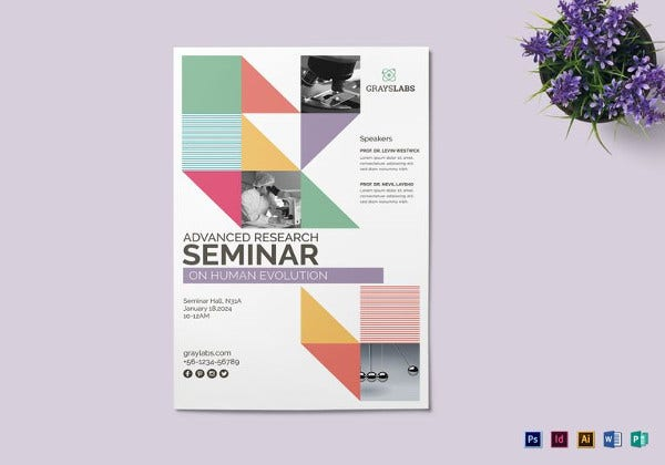 seminar poster template to edit
