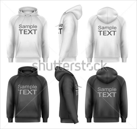 set of black and white male hoodies