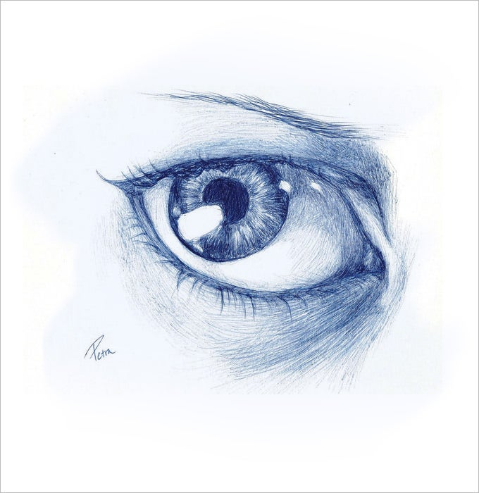 shady eye drawing 1