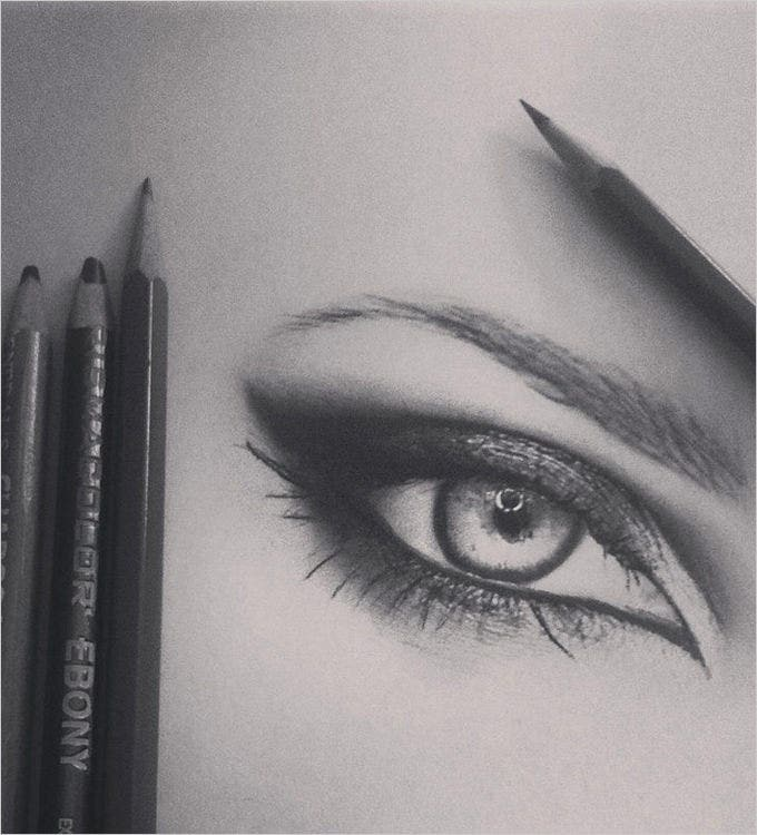 sharp eye pencil drawing