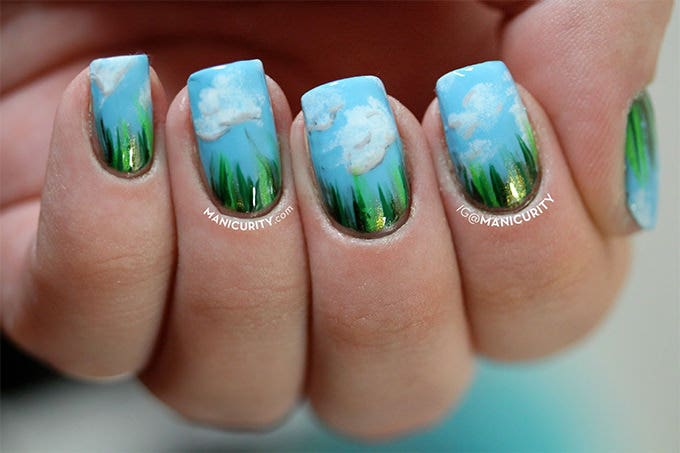 Similiar Spring Shellac Nail Ideas Keywords