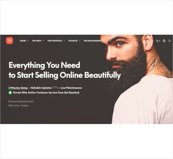 shopkeeper ecommerce wp theme