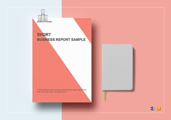 short business report template