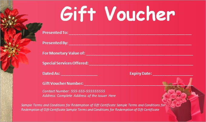 Gift Voucher Samples  Gift Certificate Voucher Template