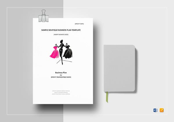 simple boutique business plan template