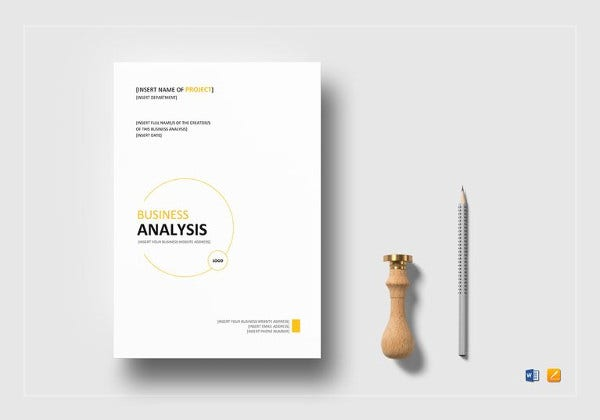 simple business analysis template