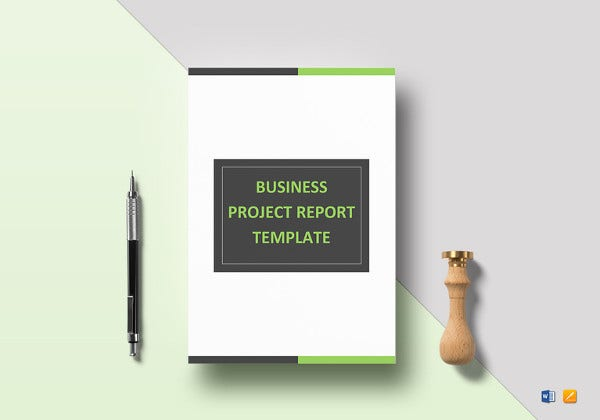 simple business project report template
