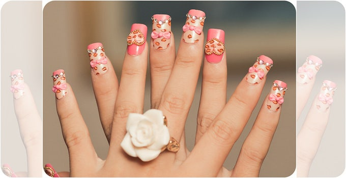 simple crazy nail design