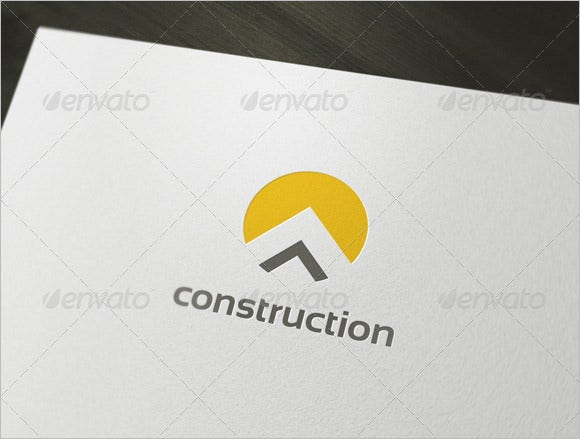 simple cunstruction company logo