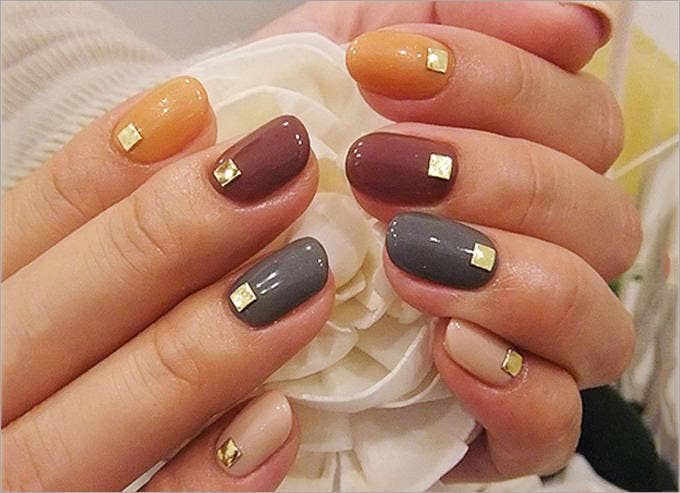 simple fall nail design