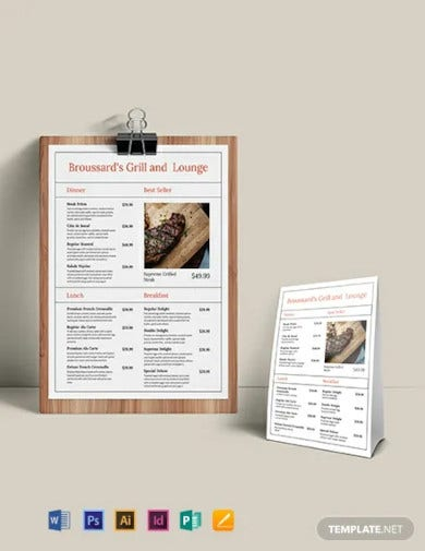 simple french menu template1