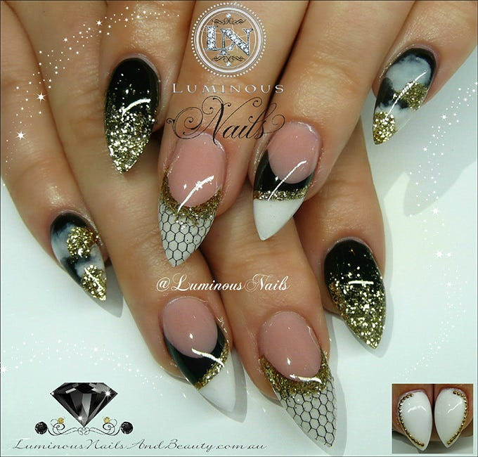 Perfect Simple Glitter Nail Designs
