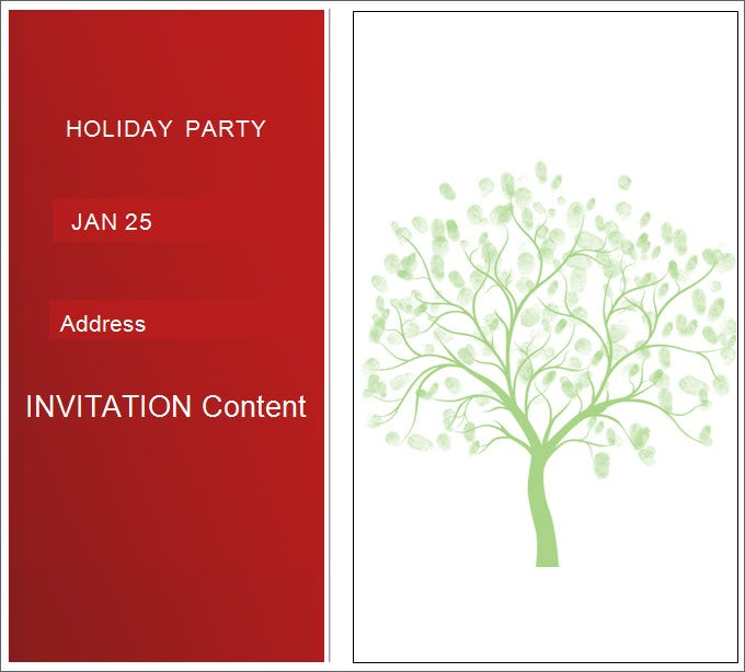 Simple Holiday Party Blank Invitation