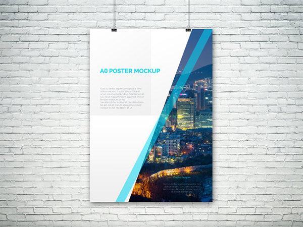 simple psd poster mocku templates