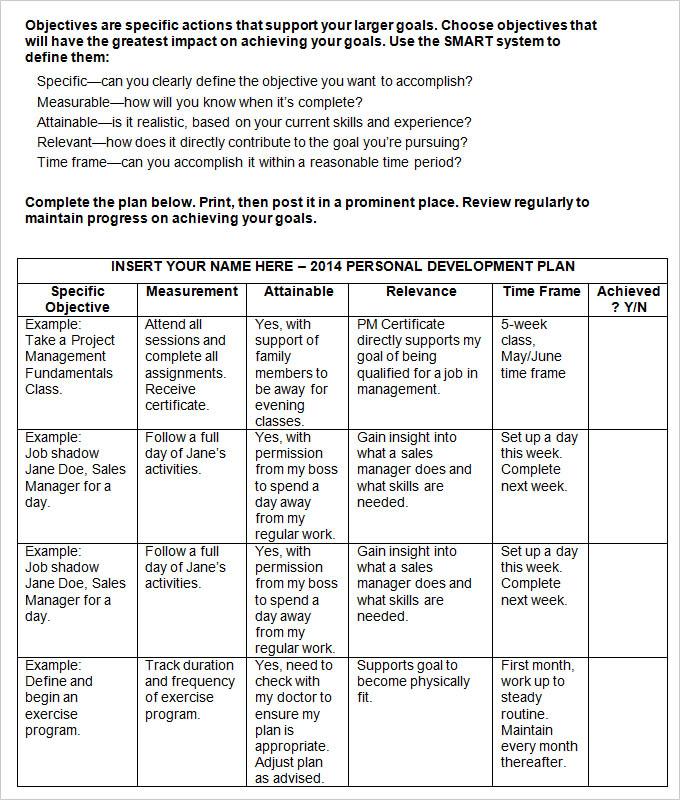 Career Development Plan, Career Development Plan Template